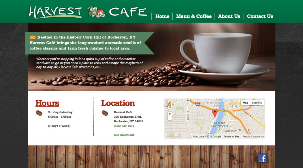 Scrappbox Rochester Web Design and Development - Harvest Cafe