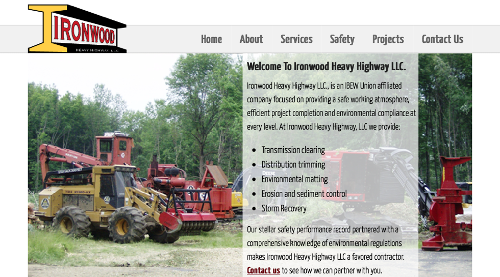 Scrappbox Rochester Web Design and Development - Ironwood Heavy Highway
