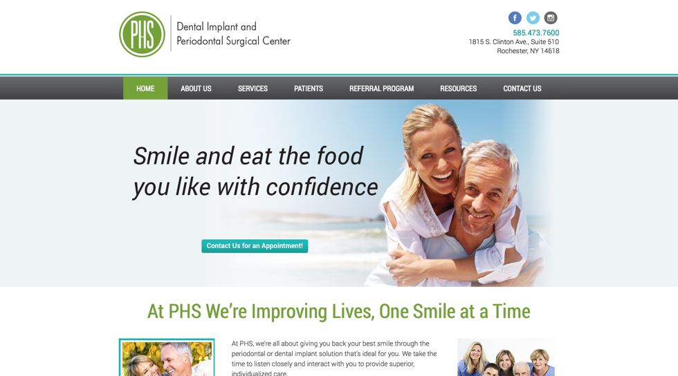 Scrappbox Rochester Web Design and Development - PHS Smile