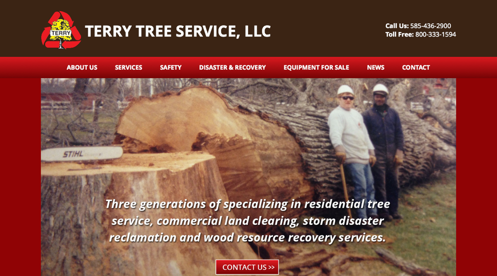 Scrappbox Rochester Web Design and Development - Terry Tree Service